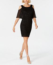 Connected Lace Cold-Shoulder Sheath Dress