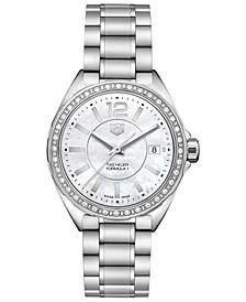Women's Swiss Formula 1 Diamond (1/4 ct. t.w.) Stainless Steel Bracelet Watch 35mm