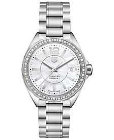TAG Heuer Women's Swiss Formula 1 Diamond (1/4 ct. t.w.) Stainless Steel Bracelet Watch 35mm