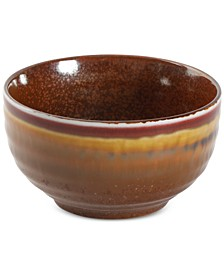 Reactive Glaze Spice Fruit Bowl