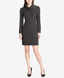 Tommy Hilfiger Cowl-Neck Knit Sweater Dress