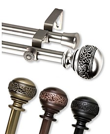 "Naomi 13/16"" Double Curtain Rod Collection"