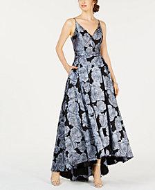 XSCAPE Floral-Print Gown