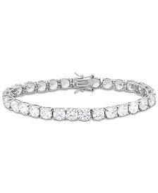 Tiara Cubic Zirconia Tennis Bracelet in Sterling Silver