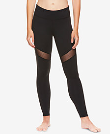 Gaiam X Jessica Biel Mesh-Trimmed High-Rise Ankle Leggings