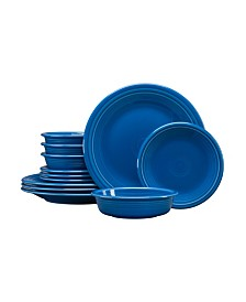 Fiesta Lapis 12 PC Classic Dinnerware Set, Service for 4