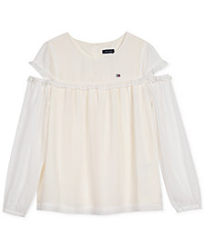 Tommy Hilfiger Big Girls Chiffon Top