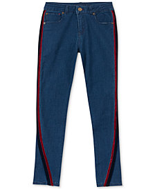 Tommy Hilfiger Big Girls Velvet-Trim Skinny Jeans