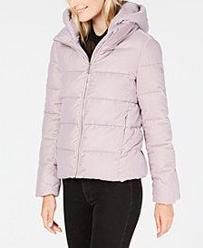 Calvin Klein Petite Velvet Puffer Coat