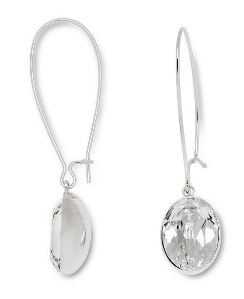 Swarovski Earrings, Puzzle Clear Crystal Drop Earrings