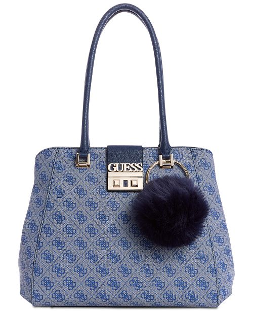 3a80fa875b GUESS Logo Luxe Satchel   Reviews - Handbags   Accessories ...