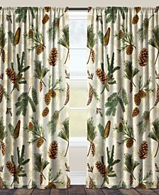 "Pinecone Sheer 84"" Window Curtain"
