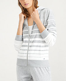 Calvin Klein Striped Hooded Active Jacket