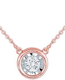 "Diamond Bezel 16"" Pendant Necklace (1/8 ct. t.w.)"
