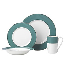 Lenox Pleated Colors Teal 4 Piece Place Setting