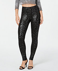 HUE® Metallic-Tapestry Printed Leggings
