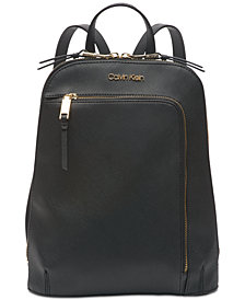 Calvin Klein Hudson Saffiano Leather Backpack