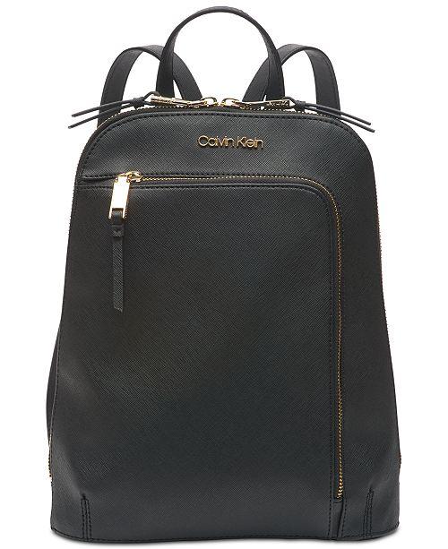 972fd2210e Calvin Klein Hudson Saffiano Leather Backpack & Reviews ...
