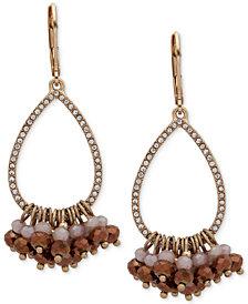 lonna & lilly Gold-Tone Crystal Pavé Shaky Bead Drop Earrings