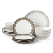kate spade new york Charles Lane 12-Piece Dinnerware Set, Created for Macy's