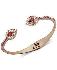 lonna & lilly Gold-Tone Crystal Cuff Bracelet