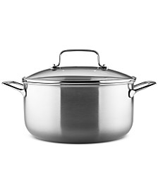 KitchenAid® Architect® Stainless Steel 8-Qt. Stockpot & Lid, Created for Macy's
