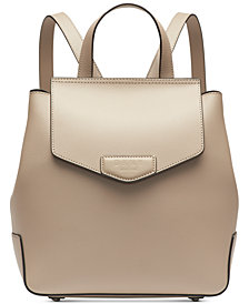 DKNY Sullivan Leather Flap Backpack, Created for Macy's