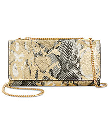 I.N.C. Glam Metallic Python-Embossed Crossbody Wallet, Created for Macy's