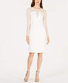 Calvin Klein Petite Mesh Illusion Dress