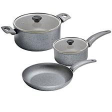 Moneta Greystone Non-Stick Forged Aluminum 5-pc Cookware Set