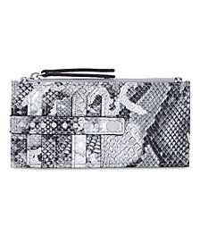 I.N.C. Glam Metallic Python-Embossed Card Case, Created for Macy's