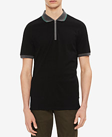 Calvin Klein Men's Contrast Zipper Tape Polo