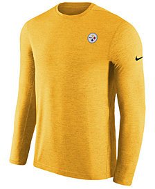 Nike Men's Pittsburgh Steelers Coaches Long Sleeve Top