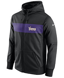 Nike Men's Minnesota Vikings Seismic Therma Full-Zip Hoodie