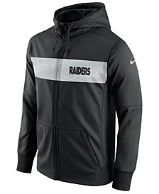 Nike Men's Oakland Raiders Seismic Therma Full-Zip Hoodie