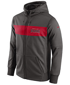Nike Men's Tampa Bay Buccaneers Seismic Therma Full-Zip Hoodie