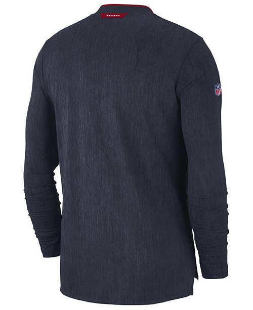 Nike Men s Houston Texans Coaches Quarter-Zip Pullover - Sports Fan ... 91d9cb0c7