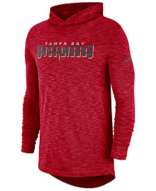 Nike Men's Tampa Bay Buccaneers Dri-Fit Cotton Slub On-Field Hooded T-Shirt