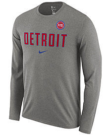 Nike Men's Detroit Pistons Essential Facility Long Sleeve T-Shirt