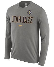 Nike Men's Utah Jazz Essential Facility Long Sleeve T-Shirt