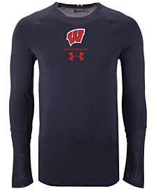 Under Armour Men's Wisconsin Badgers Long Sleeve Raid Training T-Shirt