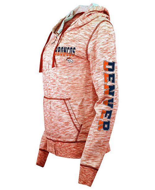 5th   Ocean Women s Denver Broncos Space Dye Full-Zip Hoodie ... 120feafd9