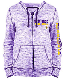 5th & Ocean Women's Minnesota Vikings Space Dye Full-Zip Hoodie