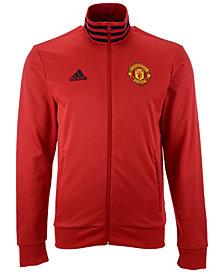 adidas Men's Manchester United Club Team 3 Stripe Track Jacket