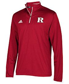 adidas Men's Rutgers Scarlet Knights Team Iconic Quarter-Zip Pullover