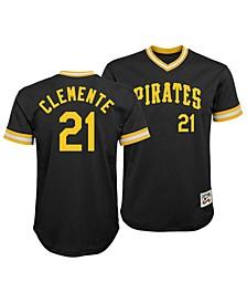 Roberto Clemente Pittsburgh Pirates Mesh V-Neck Player Top, Big Boys (8-20)