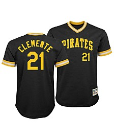 Outerstuff Roberto Clemente Pittsburgh Pirates Mesh V-Neck Player Top, Big Boys (8-20)