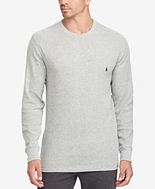 Men's Waffle-Knit Thermal Pajama Shirt