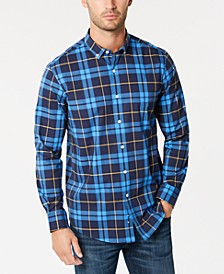 Men's Perry Plaid Stretch Shirt with Pocket, Created for Macy's