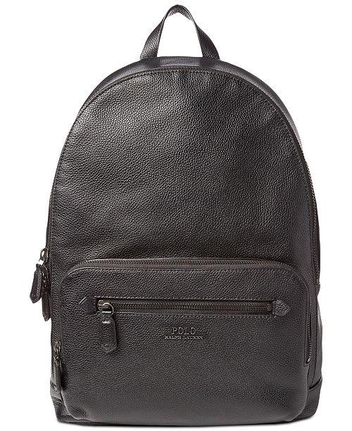 Polo Ralph Lauren Men s Pebbled Backpack - All Accessories - Men ... 74da8f847b33a